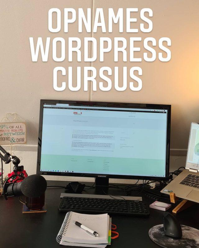 Vandaag weer verder met de opnames van mijn #wordpresscursus. Ik ga in verschillende video's stap voor stap je uitleggen en laten zien hoe jij zelf je website kunt bouwen. Geen kennis en programmeer ervaring nodig! Voor iedereen te volgen! Hou mijn social media goed in de gaten, ik ga namelijk ook een paar trial accounts weggeven!Wat zijn nog dingen die jij zou willen leren in WordPress?#vrouwelijkeondernemer #ondernemer #eigenbedrijf #marketing #support #wordpress  #contentbeheer #website #webbouwer #webdesign #design #zzp #zzper #kvk #kleinbedrijf #socialmedia  #ondernemerschap #zakenvrouw  #vrouwelijkeondernemers #ondernemersvrouwen #businesswoman #businessbabesnl #ondernemendevrouwen #ambiteuzemeisjes #girlbossnl #girlboss