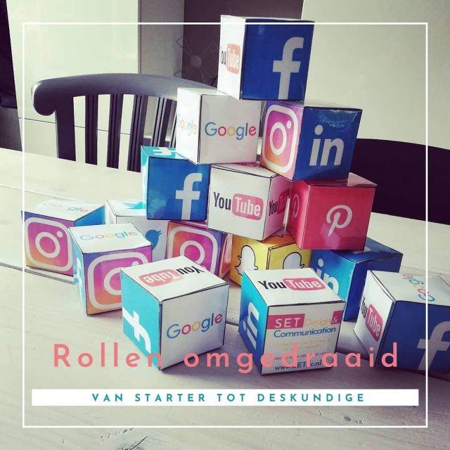 De rollen zijn omgedraaid..2 jaar geleden maakte ik deze #socialmedia cubes en foto voor mijn social media. Ik was net begonnen met mijn bedrijf en volgde een cursus voor startende ondernemers. Super leerzaam en ik keek toch ook wel een beetje op tegen de presentators.. Want die weten veel! Dat zijn echte experts!Nu ben ik de laatste dingen aan het voorbereiden voor de cursus die ik vanavond ga geven.. Aan startende ondernemers.. 😅 Juist, de rollen zijn omgedraaid! Bijzonder hoe dingen kunnen lopen!Vanavond ga ik ze dingen uitleggen over social media en hoe je dit het beste kunt inzetten voor je bedrijf, ben benieuwd!Jullie nog tips voor deze starters?#vrouwelijkeondernemer #ondernemer #eigenbedrijf #marketing #support #wordpress #wordpresscursus #contentbeheer #website #webbouwer #webdesign #design #zzp #zzper #kvk #kleinbedrijf #socialmedia  #ondernemerschap #zakenvrouw  #vrouwelijkeondernemers #ondernemersvrouwen #businesswoman #businessbabesnl #ondernemendevrouwen #ambiteuzemeisjes #girlbossnl #girlboss #setdc
